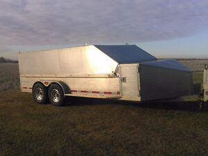 Custom built HD aluminum trailer with removable hard cover