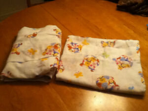 Draps Winnie, lit 1 place/Winnie the Pooh single bed sheets