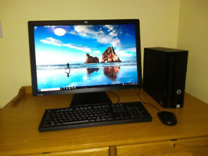 """HP Slimline PC with 24"""" monitor"""