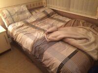 Queen size divan bed includes mattress