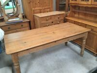 Solid Pine Farmhouse style Table