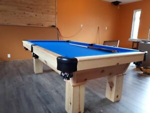 3.5x7 pool table or 4x8 pool table