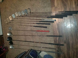 Full set of golf clubs bag and extra clubs
