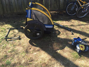 Bell bicycle kids double trailer convertible to sports stroller