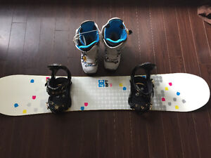 DC snowboard with Burton boots and bindings London Ontario image 1