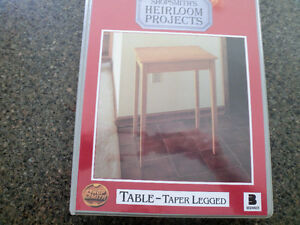 Do-it-Yourself Teaching Instructions for a Taper Legged Table