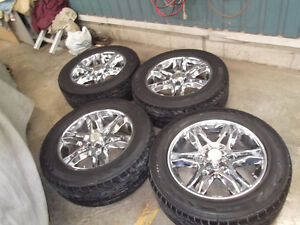 """6 BOLT GM 1500 20"""" AMERICAN RACING RIMS AND  TIRES"""