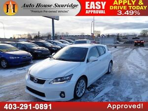 2013 Lexus CT 200h Sunroof, Leather, Navi, B.Cam