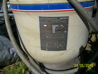 Pool sand filter, pump and salt water system
