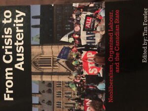 Selling Tim Fowler's From Crisis to Austerity