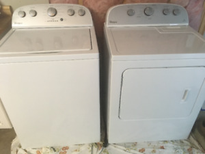 Whirlpool High Efficiency Washing Machine and Electric Dryer