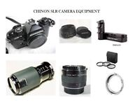 CHINON CE-4 35 mm CAMERA EQUIPMENT made in Japan