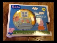 Peppa Pig - Ceramic Breakfast Set, Brand New with Box