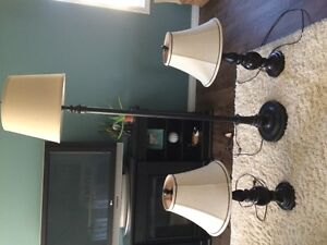 Floor and 2 Accent Table Lamps