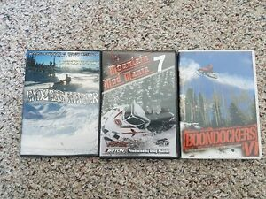 BOONDOCKERS VI & Mountain Mod Mania 7 - 3 SNOWMOBILE DVDS