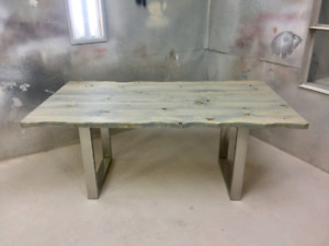 Table live edge 6' grise atelier FABRICA