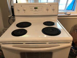 Dishwasher and stove .