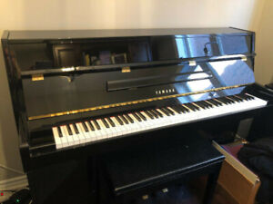 Yamaha E108 Black Upright Piano