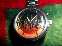 Mens Fossil Flame Watch.  $40