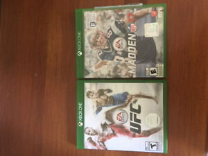Selling xbox one games madden NFL17 and UFC