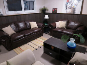 *SOLD* Leather Sofa and Loveseat Combo - Very Comfy - $200 O.B.O