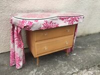 Kidney dressing table chest drawers vintage shabby chic project