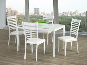 Extra value for this metal white dining table set!