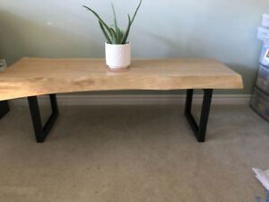Live Edge Newly Built Coffee Table or Bench