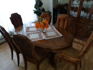 Sklar Peppler Formal Dining Room Ensemble - vintage, solid wood.