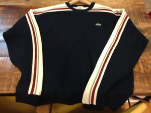 Vintage Lacoste Men's Sweater Size 8 Blue