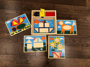 Melissa & Doug wooden pattern blocks puzzles