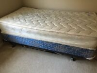 Mattress, topper, box spring and bed frame. FREE!