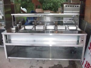 HOT STEAMING TABLE