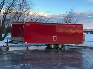 4 Place 24' Enclosed Snowmobile Trailer