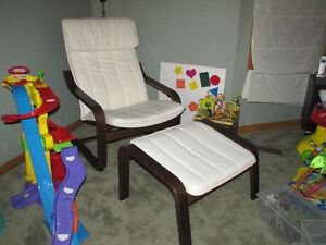 Ikea Poang Chair and Stool For Sale