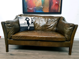 John Lewis Halo Reggion small sofa in heritage leatherRRP £2000