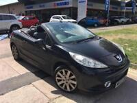 BLACK Peugeot 207 CC 1.6 16v 120 Coupe GT 07 57 PLATE NEW MOT JUST SERVICED 75K