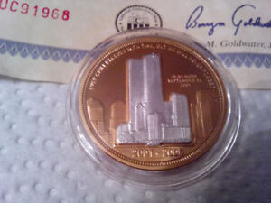 911 5th Annaversary Gold & Silver Collectible Coin.