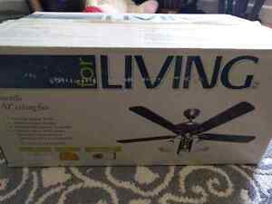 "Brand new 52"" ceiling fan w/ remote"