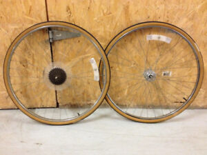 27 Inch Wheel Sets Front Rear Raleigh Vintage CS18 Schwalbe MXB