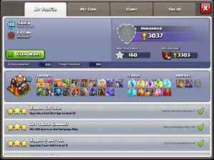 Clash of clans account lvl 118