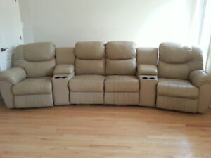 Leather Sectional Couch Palliser