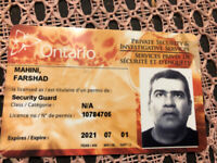 Licensed security guard