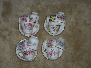Various VINTAGE cups and saucers