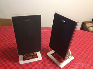 pair of Philips Speakers Serial No. LM0733