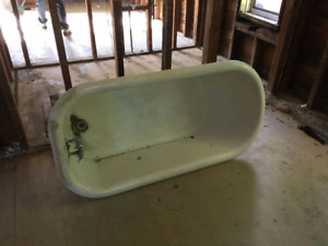Old claw tub for sale.