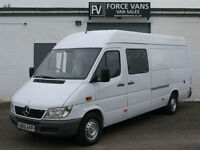 MERCEDES SPRINTER 311 K9 DOG WALK EUROPEAN PET ANIMAL TRANSPORT EURO CREW VAN