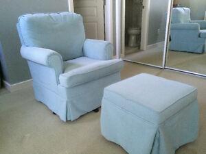Nursery Glider: Dutalier Nursing Chair and Ottoman