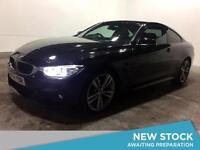 2014 BMW 4 SERIES 420d M Sport Sat Nav Leather Bluetooth Parksensors