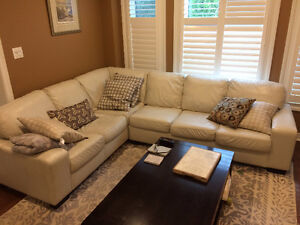 Living Room Set. Couch, coffee table, recliner and Ottoman